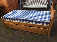 Used but good condition single bed and mattress with underbed frame