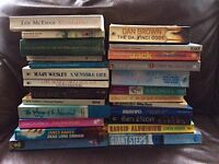 25 books, mostly fiction.