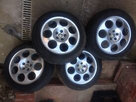 Alfa Romeo 156 alloy wheels & tyres 205 55 R16