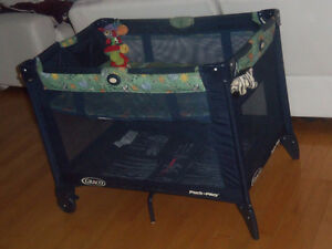 Parc lit Graco double fond