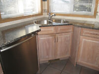 Kitchen Cabinets with Granite Counter Tops & Large Island