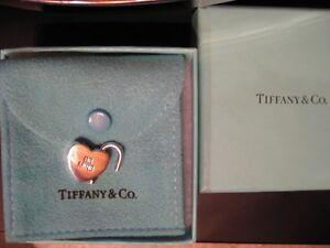 Authentic Tiffany & Co. BE MINE Lock Charm Valentine gift