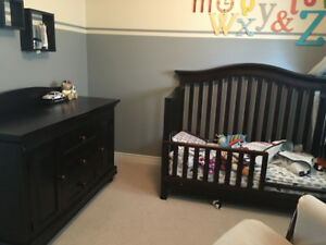 Convertible crib and dresser