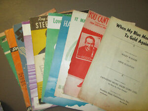5 GUITAR SHEET MUSIC BOOKS FROM 30's and 40'S