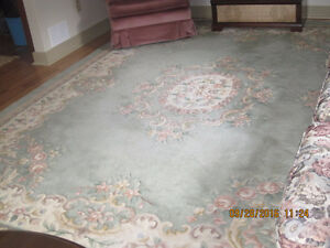 Living room carpet with matching hall runner