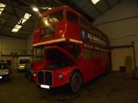 LONDON ROUTEMASTER BUS LEYLAND AEC 1965 OFFICE CONVERSION