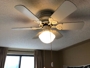 Ceiling fan with 5 blades