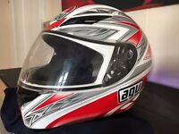 AGV K-3 full head motorcycle motorbike helmet size medium