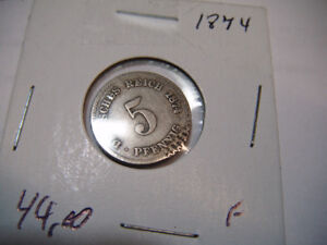 2 coins silver 1/2 mark 1911---1874 5 phaning