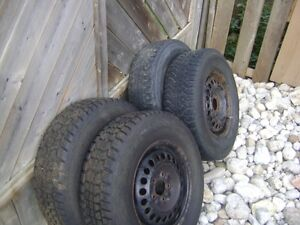 Winter tires and rims for a Chevy venture or Pontiac montana Cambridge Kitchener Area image 2