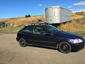 Great 1998 Honda Civic Hatchback with roof rack