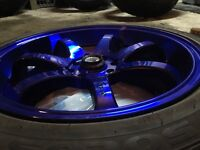 4x100 / 4x113.3 DAI 17x7 Rims And Tires Brand New
