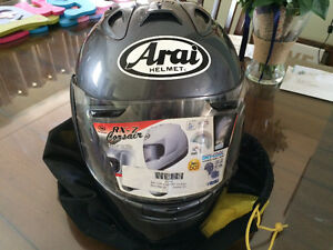 Arai RV-7 corsair motorcycle helmet and case