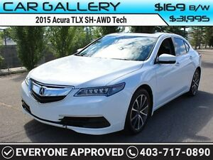 2015 Acura TLX SH-AWD Tech w/Sunroof, Leather, Navi $169B/W QUIC
