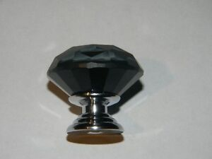 10 Dimond shape black crystal pull knobs 3cm with screws London Ontario image 1