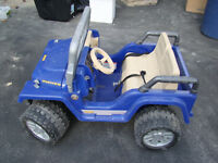 Power Wheels Jeep. Working, barely used.