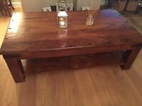 Solid wood table large