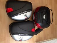 Givi Luggage Panniers and top box.