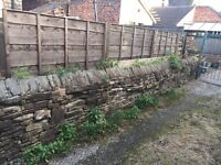 Stone wall for removal and collection