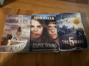 Various books for sale - Paper Towns, Life of PI, The 5th Wave