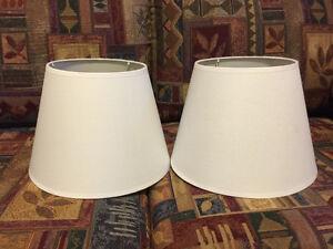 Ensemble 2 abats-jour pour lampe de chevet (blanc)