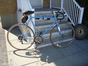 4 SALE ONE MENS VINTAGE 12 SPEED BLUE RALEIGH RECORD BICYCLE