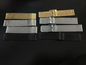 Interchangeable Watch Straps - Mesh/Stainless Steel - Brand New