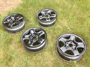 "Rims 16"" 5x114.3 almost new, black! West Island Greater Montréal image 1"