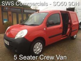 2013 (13) RENAULT KANGOO MAXI CREW CAB VAN 1.5 DCI 90 RED ELECTRICS 5 SEAT CITAN