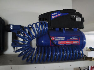2 Gallon Air Compressor with Finishing Nailer Campbell Hausfeld
