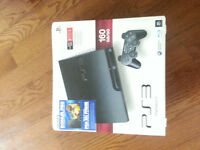 ps 3 160gb with box + 2 controler + game