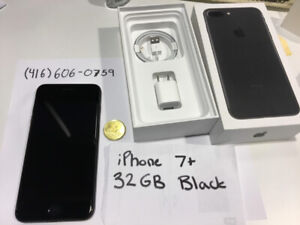 iPhone 7+ PLUS 32GB Black, Unlocked – IN BOX