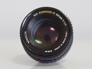 Minolta MD Rokkor-x 50mm f1.7 manual lens - $55
