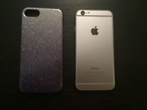 Iphone6-32GB grey with original box with purple Kate spade case