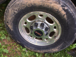 GM/Chev 2500HD factory rims with Firestone tires