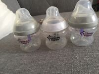 3 X Tommee Tippee Bottles 5oz!! Used Once!