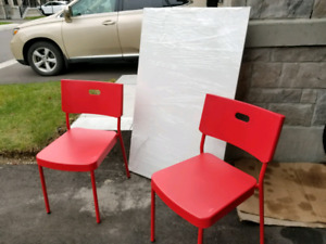 IKEA table (white) and 2 chairs!