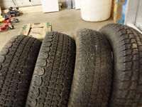 205/75R14 STUDDED WINTER TIRES, Light Truck, Trailer Decent Tred