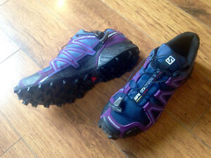 Salomon Women's SpeedCross 4 CS Trail Running Shoes - Purple/Bla