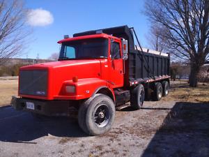 Volvo tri axle dump truck