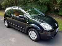 CITROEN C2 1.1i LX - 3 DOOR - 2004 - BLACK ** LOW MILES **