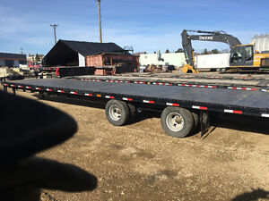 2014 36' flat deck trailer with ramps STEEL DECK! LIKE NEW