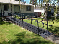 Removable wheelchair ramp