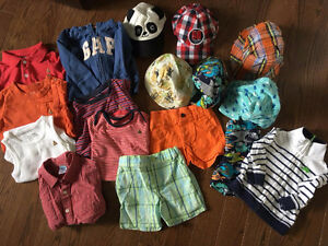 6-12mth boys summer lot--gap carters old navy