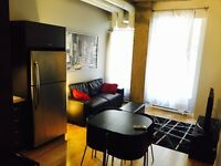 FURNISHED CONDO DOWNTOWN MONTREAL MEUBLE SEPTEMBER