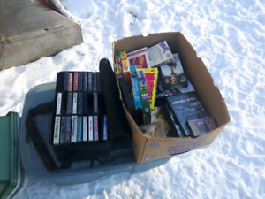 Cassette music/VHS movies/DVD movie and music