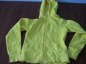 lululemon athletica hoodie zip up used size s 6  Hot yellow
