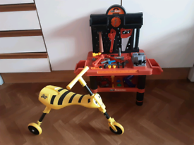 Toddlers scuttle bug trike & toolbench .
