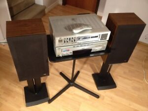 Vintage JVC Receiver and Speakers Home Stereo