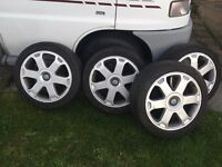 Genuine Audi S3 alloys with tyres